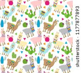 seamless  tileable llama and... | Shutterstock .eps vector #1177877893