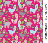 seamless  tileable llama and...   Shutterstock .eps vector #1177877899