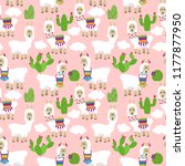 seamless  tileable llama and... | Shutterstock .eps vector #1177877950