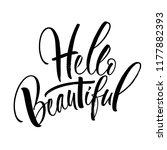 hello beautiful lettering.... | Shutterstock .eps vector #1177882393