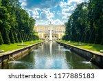 saint petersburg  peterhof ... | Shutterstock . vector #1177885183