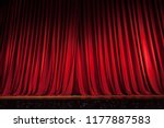 red stage curtain   Shutterstock . vector #1177887583