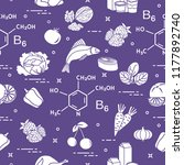 seamless pattern with foods... | Shutterstock .eps vector #1177892740