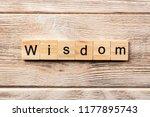 wisdom word written on wood... | Shutterstock . vector #1177895743