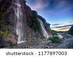 trident falls near franz josef...   Shutterstock . vector #1177897003