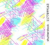 various pen hatches. seamless... | Shutterstock .eps vector #1177899163