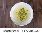 yellow chicken noodles soup... | Shutterstock . vector #1177906366