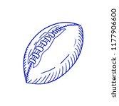 hand drawn american football...   Shutterstock .eps vector #1177906600