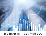 financial growth graph. sales...   Shutterstock . vector #1177908880