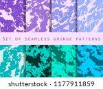 grunge set of seamless pattern... | Shutterstock .eps vector #1177911859