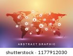 social media network and... | Shutterstock .eps vector #1177912030