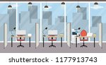 empty modern office with...   Shutterstock .eps vector #1177913743