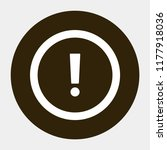 attention sign vector icon 10... | Shutterstock .eps vector #1177918036