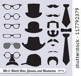 vector set  mix and match... | Shutterstock .eps vector #117792379
