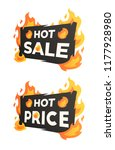 hot sale and hot price burning... | Shutterstock .eps vector #1177928980