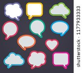 text balloons set with... | Shutterstock .eps vector #1177933333