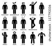 people man characteristic... | Shutterstock . vector #117793336