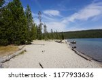 beautiful lake on the beach in...   Shutterstock . vector #1177933636