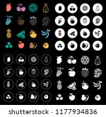 fruit icons set | Shutterstock .eps vector #1177934836