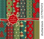 set of seamless christmas...   Shutterstock .eps vector #1177937473
