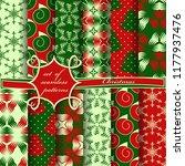 set of seamless christmas...   Shutterstock .eps vector #1177937476