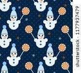 seamless christmas vector...   Shutterstock .eps vector #1177937479