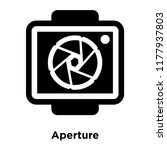 aperture icon vector isolated... | Shutterstock .eps vector #1177937803