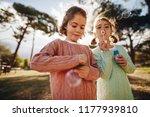 beautiful little girls playing... | Shutterstock . vector #1177939810