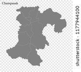 high quality map of champasak... | Shutterstock .eps vector #1177944100