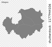 high quality map of attapeu is... | Shutterstock .eps vector #1177944106