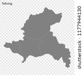 high quality map of sekong is a ... | Shutterstock .eps vector #1177944130