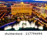 Stock photo las vegas august musical fountains at bellagio hotel casino on august in las vegas 117794494