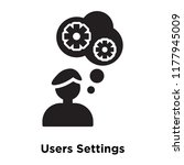 users settings icon vector... | Shutterstock .eps vector #1177945009