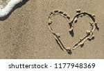 Heart On A Sand Of Beach Summe...