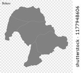 high quality map of bokeo is a... | Shutterstock .eps vector #1177948606
