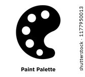 paint palette icon vector...