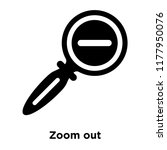 zoom out icon vector isolated...   Shutterstock .eps vector #1177950076