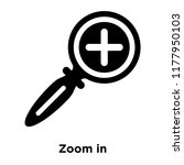 zoom in icon vector isolated on ...   Shutterstock .eps vector #1177950103