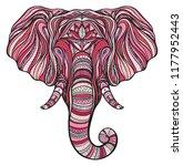 stylized ethnic boho elephant... | Shutterstock . vector #1177952443