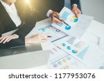 business team present.... | Shutterstock . vector #1177953076