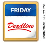 deadline calendar illustration... | Shutterstock . vector #117795790
