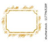 gold frame. beautiful golden... | Shutterstock .eps vector #1177965289