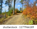 trail in the mountains  autumn... | Shutterstock . vector #1177966189