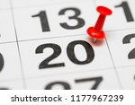 pin on the date number 20. the... | Shutterstock . vector #1177967239