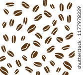 coffe beans background  vector... | Shutterstock .eps vector #1177978339