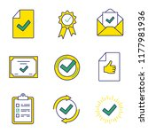approve color icons set.... | Shutterstock .eps vector #1177981936