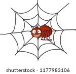 nice color spider  | Shutterstock .eps vector #1177983106