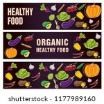 set of banners about organic... | Shutterstock .eps vector #1177989160