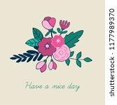 beautiful floral bouquet... | Shutterstock .eps vector #1177989370