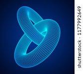 wireframe polygonal element. 3d ... | Shutterstock . vector #1177992649